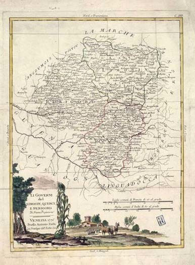 Plan - Limoges, Quercy, P곩gord